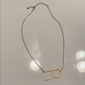 Anthropologie R Letter Necklace